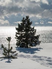 Красота зимнего Иссык-Куля